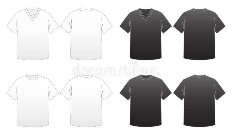Descripteur-Séries 1 du T-shirt des hommes illustration libre de droits