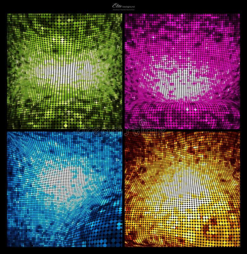 Descripteurs abstraits de milieux de scintillement illustration de vecteur