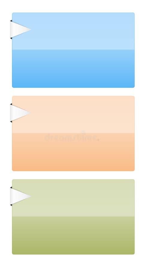 Descripteurs avec la flèche illustration stock