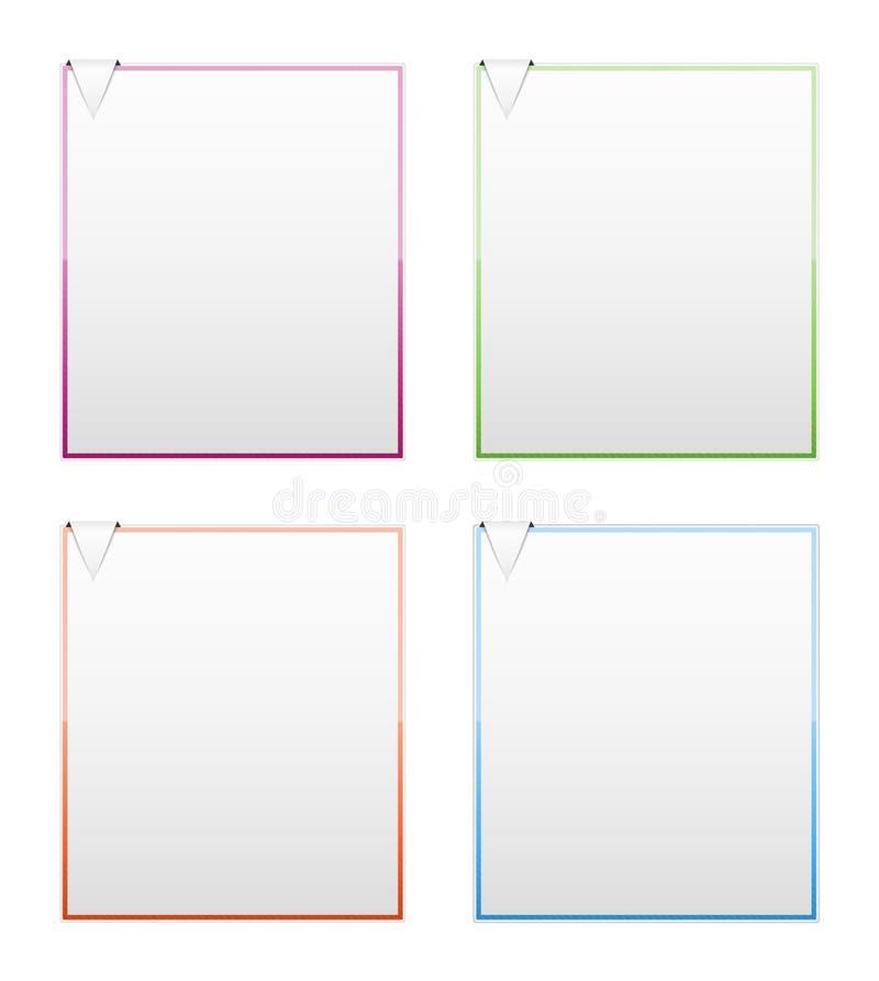 Descripteurs blanc avec la flèche illustration stock
