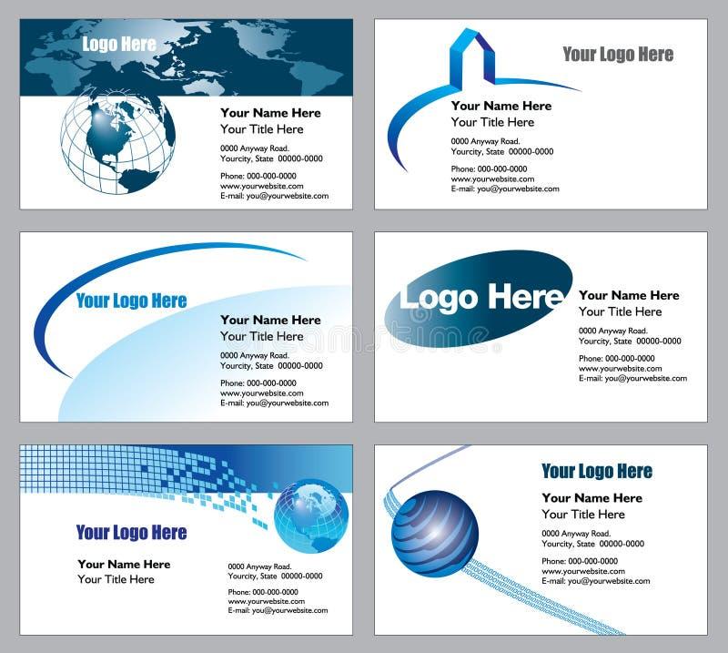 Descripteurs de carte de visite professionnelle de visite illustration de vecteur