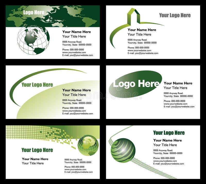 Descripteurs de carte de visite professionnelle de visite illustration libre de droits