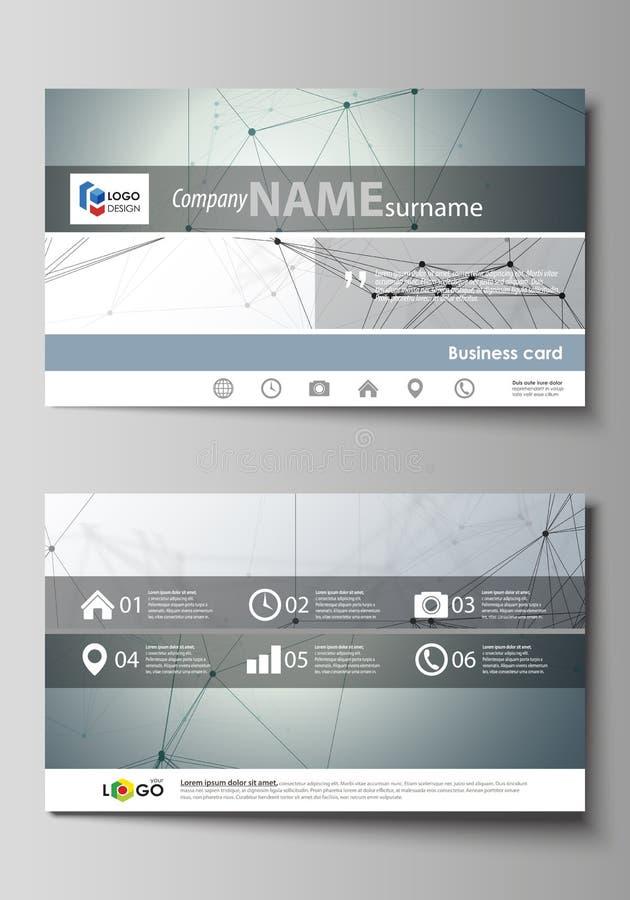 Descripteurs de carte de visite professionnelle de visite Disposition editable facile, calibre abstrait de conception de vecteur  illustration libre de droits