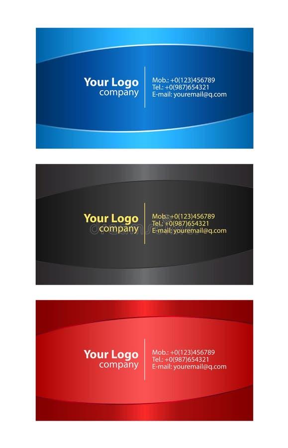 Descripteurs de cartes de visite professionnelle de visite illustration stock