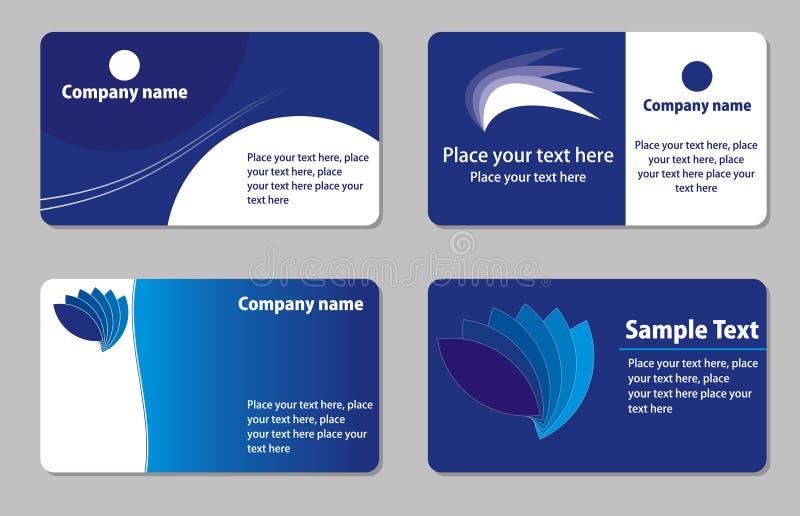 Descripteurs de cartes de visite professionnelle de visite illustration de vecteur