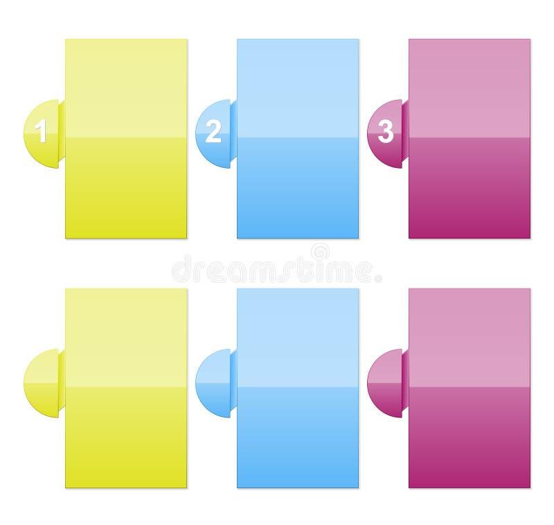 Descripteurs de Colortext avec des numéros illustration libre de droits