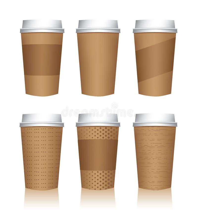 Descripteurs de cuvette de café illustration stock