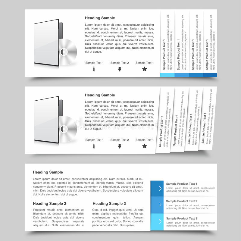 Descripteurs de glissière de Web illustration stock