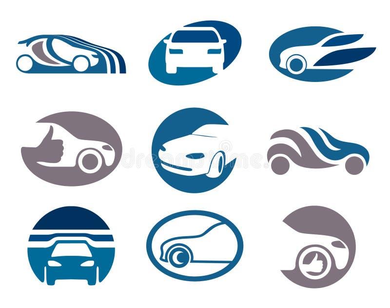 Descripteurs de logo et d'emblème de véhicule illustration de vecteur