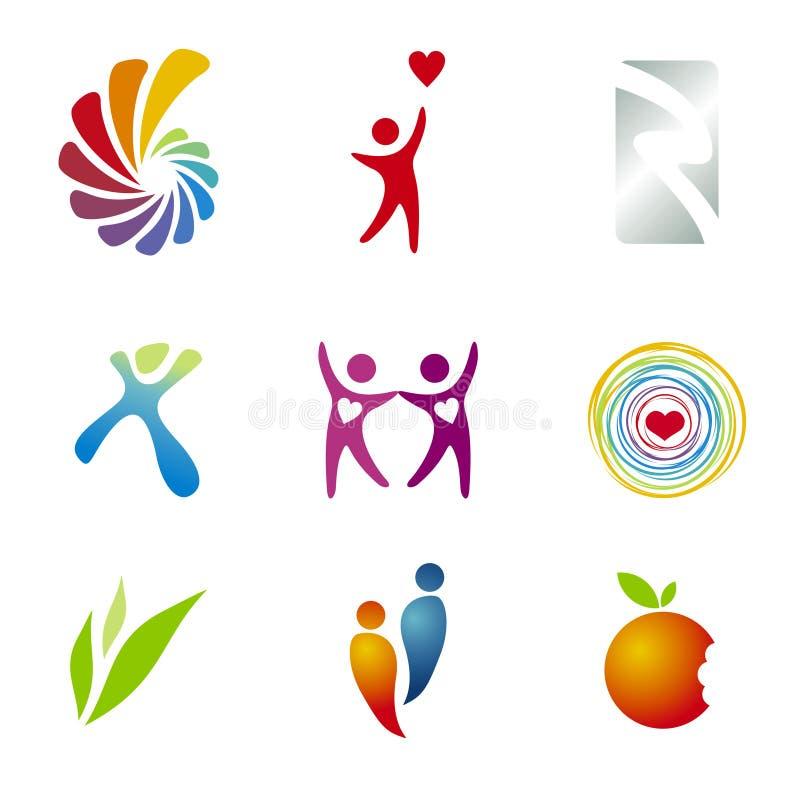 Descripteurs de marquage à chaud/logo illustration libre de droits