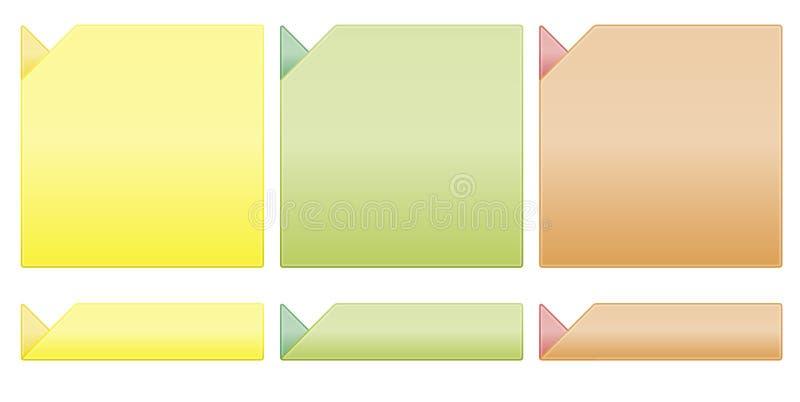 Descripteurs frais de couleur illustration stock