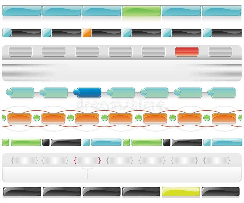 Descripteurs lustrés 3 de Web de vecteur illustration stock