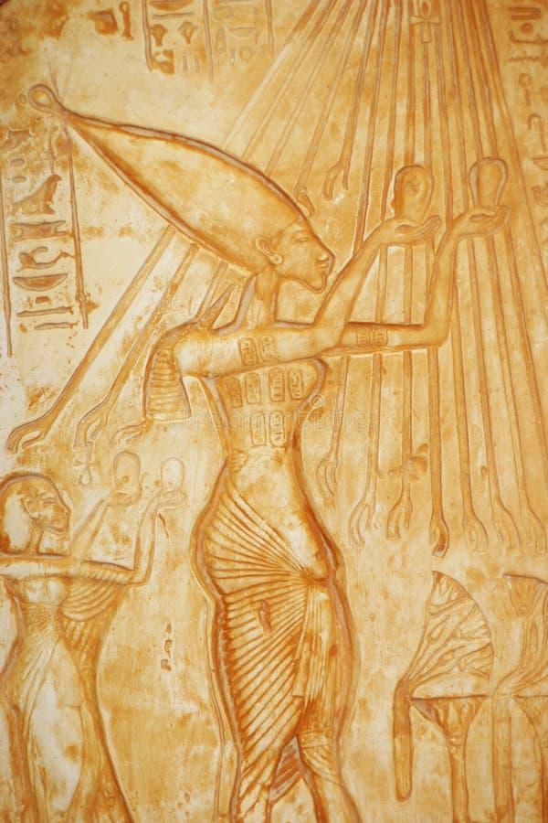 Description égyptienne antique de l'offre de nourriture photographie stock libre de droits
