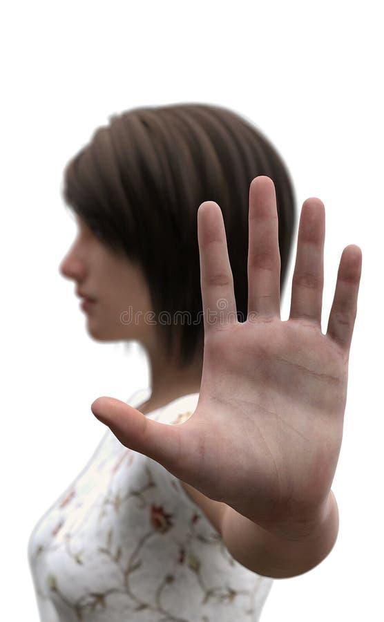 Description de à l'idiome ou au concept de longueur de bras photographie stock libre de droits