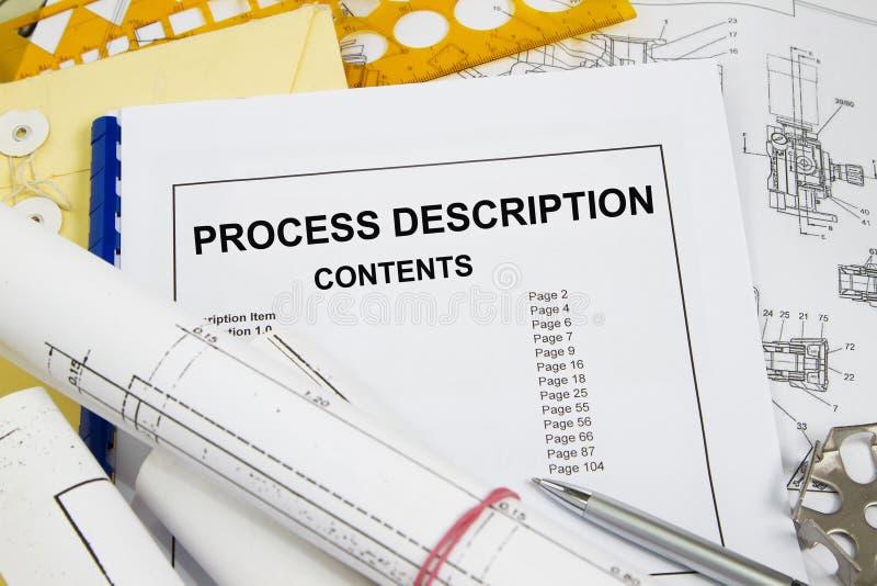 Description de processus images stock