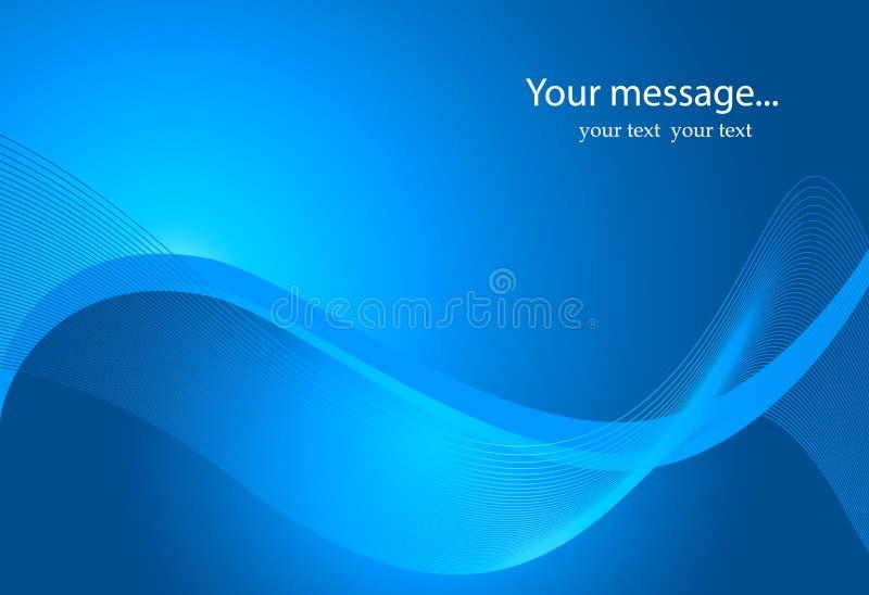 Description : Fond dynamique d'onde dans le bleu illustration de vecteur