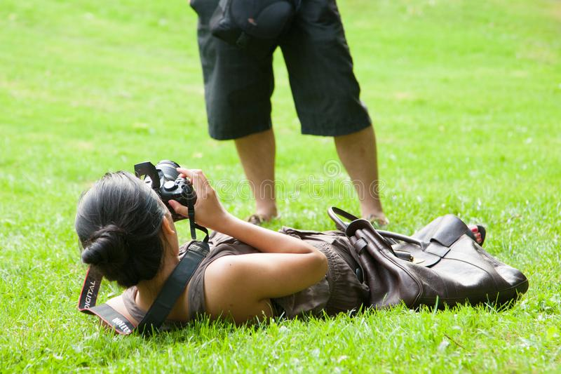 Woman in Photography world royalty free stock photos