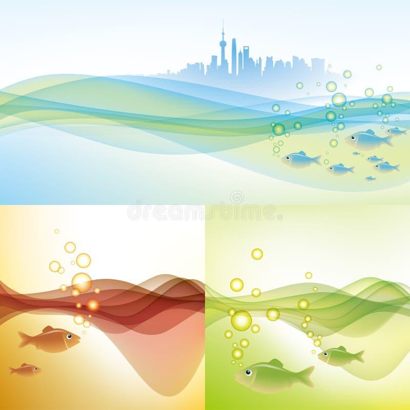 Ambiente dell'acqua di Schang-Hai royalty illustrazione gratis