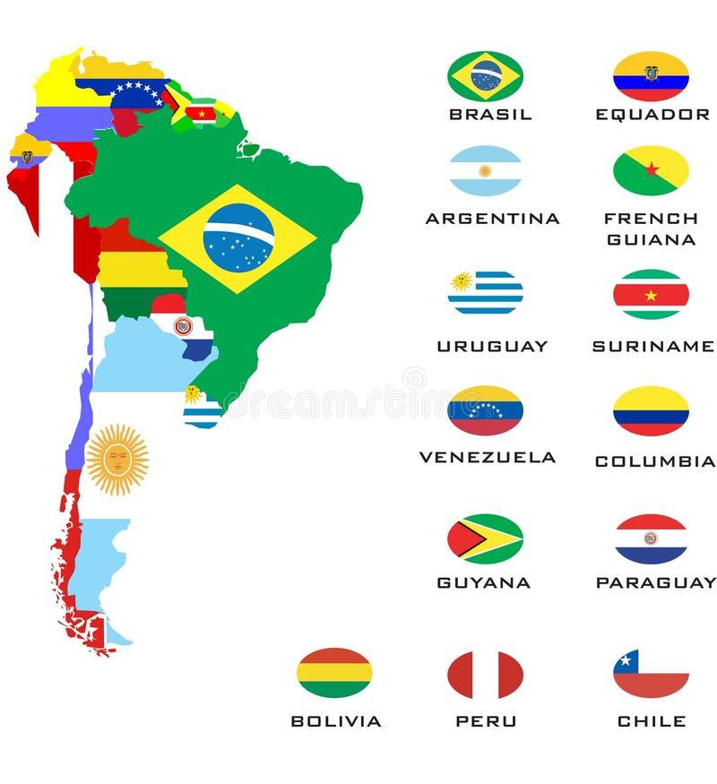 Mappe del profilo dei paesi  royalty illustrazione gratis