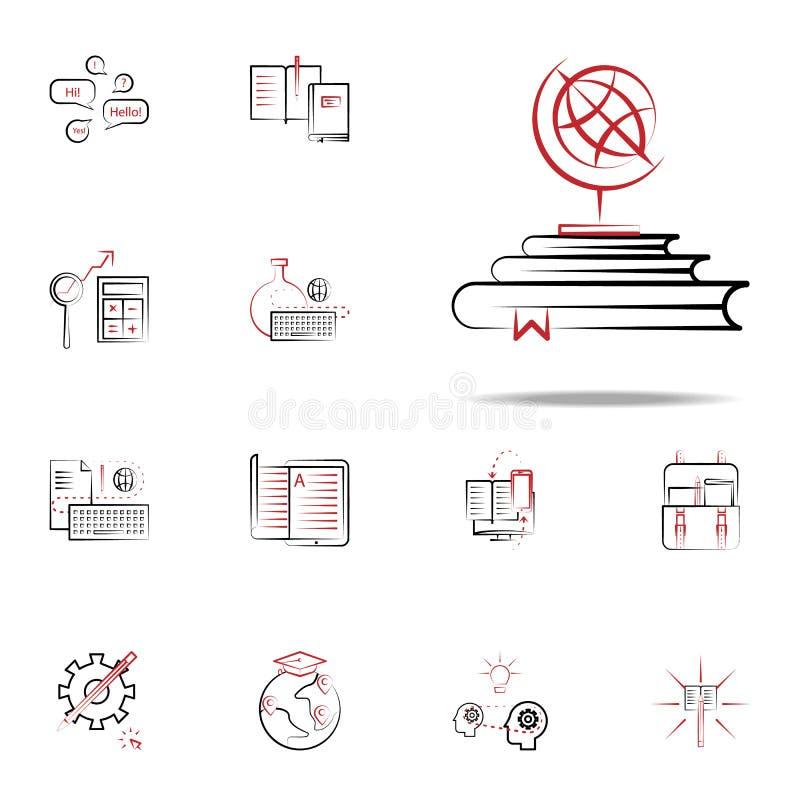 Descubra o ícone Grupo universal dos ícones da educação para a Web e o móbil ilustração royalty free