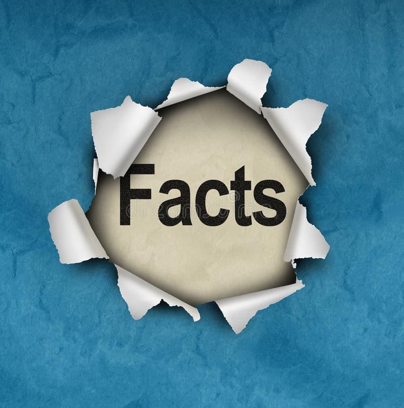 Descubra o símbolo dos fatos ilustração royalty free