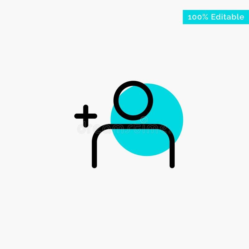 Descubra povos, Instagram, ícone do vetor do ponto do círculo do destaque de turquesa dos grupos ilustração do vetor
