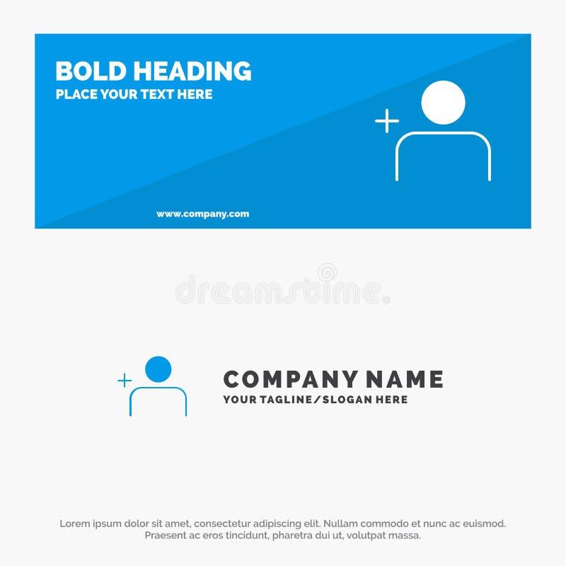 Descubra povos, Instagram, ajuste a bandeira contínua do Web site do ícone e o negócio Logo Template ilustração stock