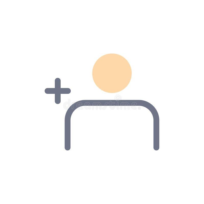 Descubra povos, Instagram, ajuste o ícone liso da cor Molde da bandeira do ícone do vetor ilustração stock