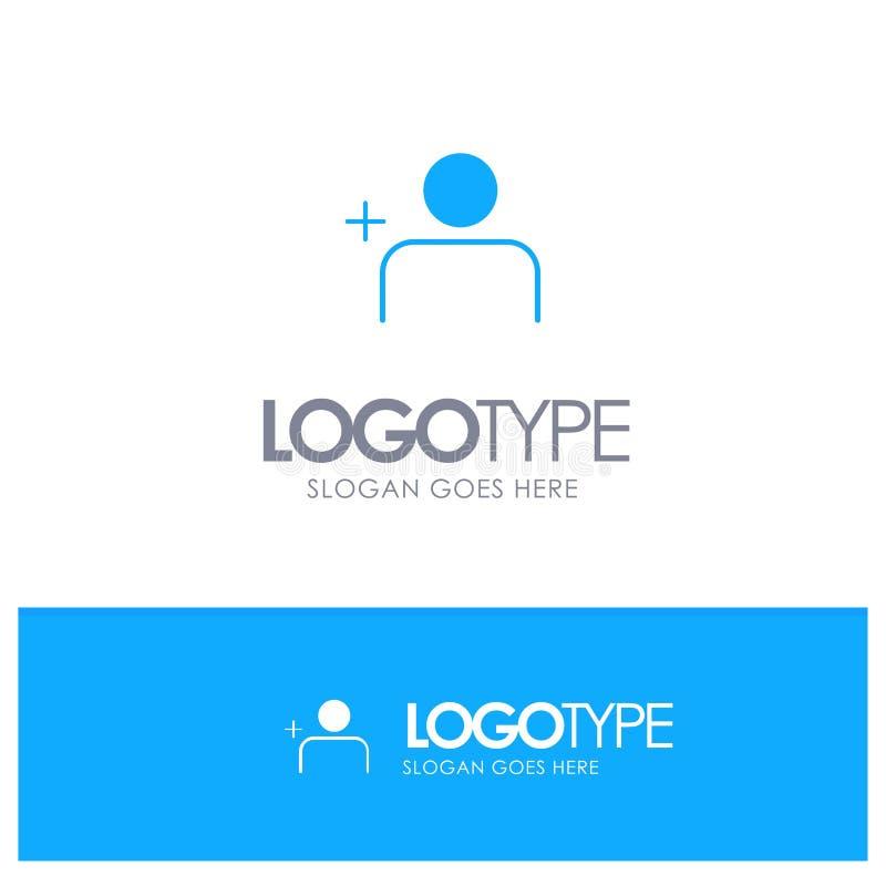 Descubra povos, Instagram, ajuste o logotipo contínuo azul com lugar para o tagline ilustração royalty free