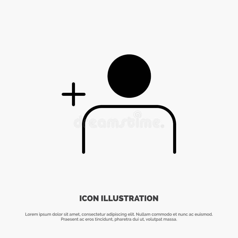 Descubra povos, Instagram, ajuste o vetor contínuo do ícone do Glyph ilustração do vetor