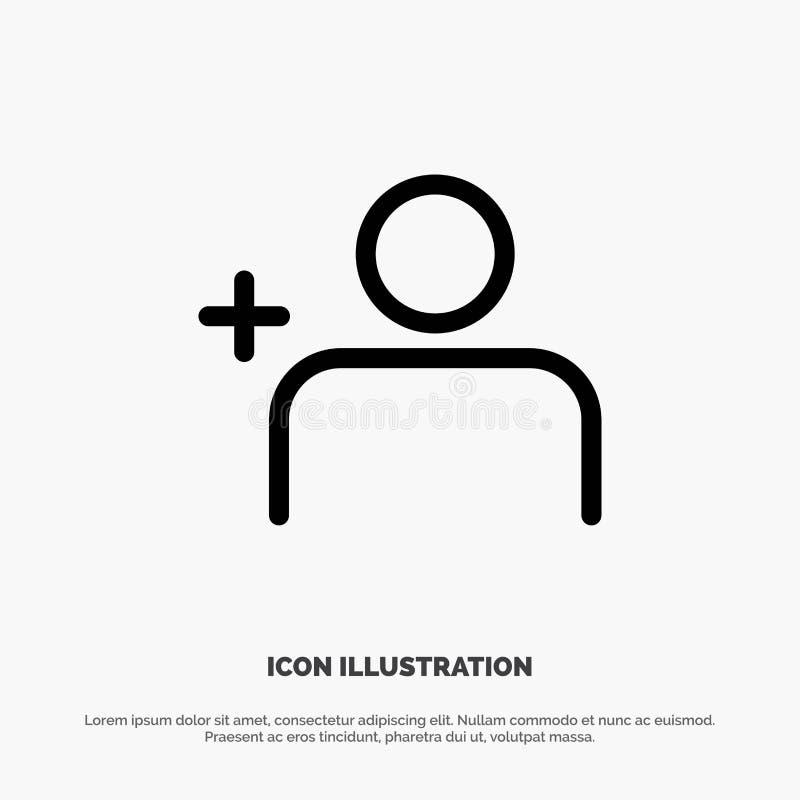 Descubra povos, Instagram, grupos alinham o vetor do ícone ilustração stock