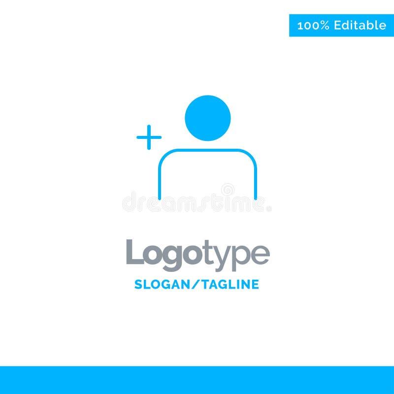 Descubra povos, Instagram, grupos Logo Template contínuo azul Lugar para o Tagline ilustração stock