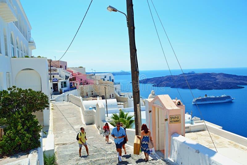 Descubra Santorini fotografía de archivo libre de regalías