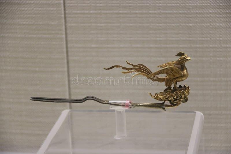Descubrimiento arqueológico de las horquillas usadas por las señoras chinas antiguas imágenes de archivo libres de regalías
