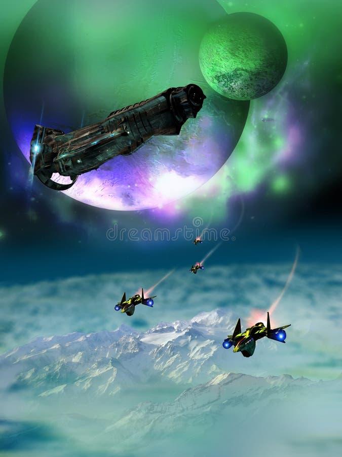 Descubrimiento de los mundos lejanos libre illustration