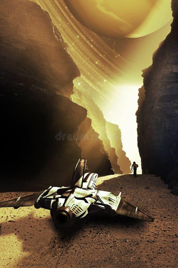 Descubrimiento de los planetas lejanos libre illustration