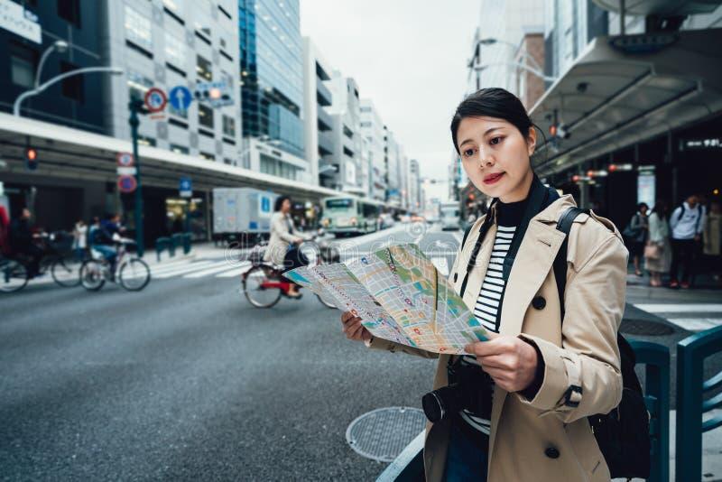 Descubrimiento de nuevos lugares en Kyoto Japón foto de archivo libre de regalías