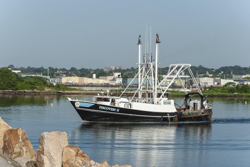 Descubrimiento II New Bedford que se va de buque pesquero fotografía de archivo libre de regalías