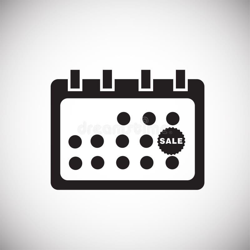 Descuento cibernético negro del calendario de viernes lunes en el fondo blanco ilustración del vector