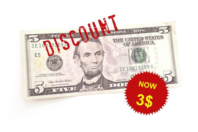 Descuento del dólar foto de archivo libre de regalías
