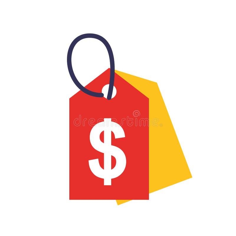 Descuento del dólar de la etiqueta del mercado del comercio libre illustration