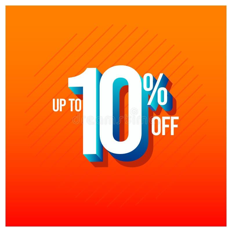 Descuento el hasta 10% de la venta del ejemplo determinado del diseño de la plantilla del vector ilustración del vector