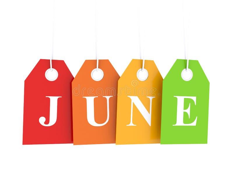Descuentos de junio stock de ilustración