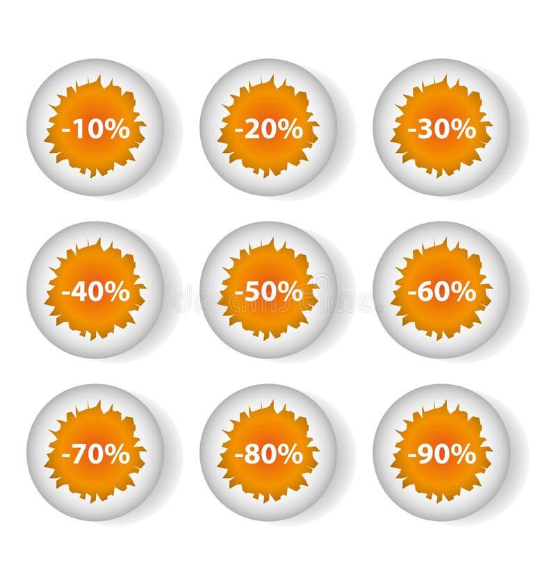 Descuentos de los huevos stock de ilustración