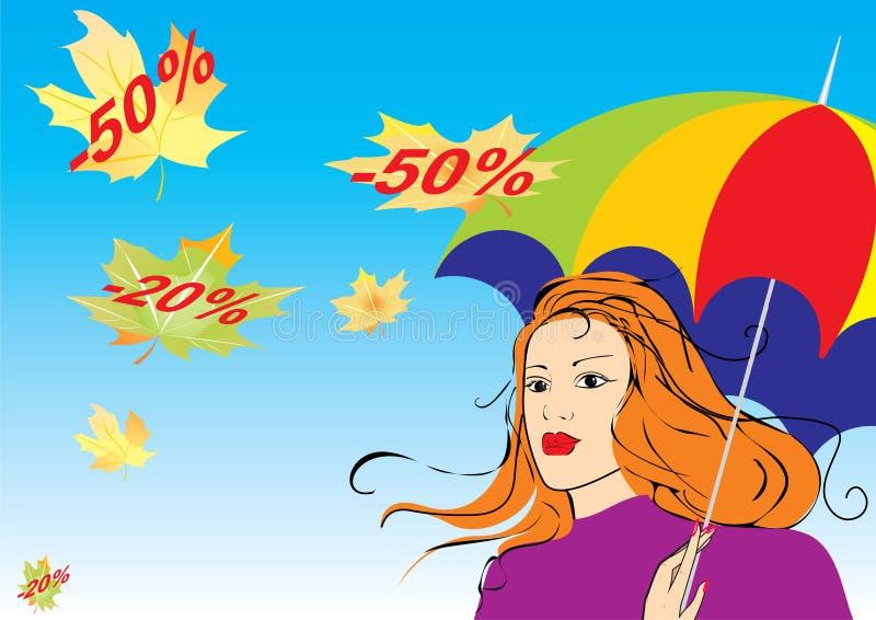 Descuentos del otoño stock de ilustración