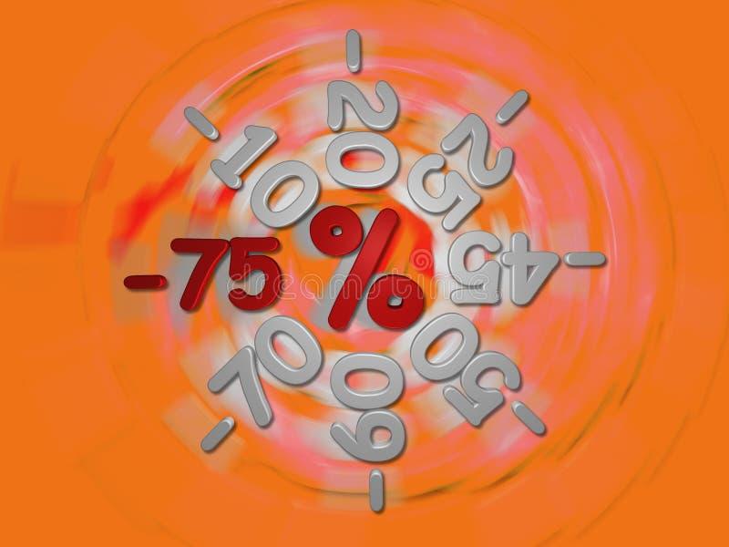 Descuentos el -75 por ciento libre illustration