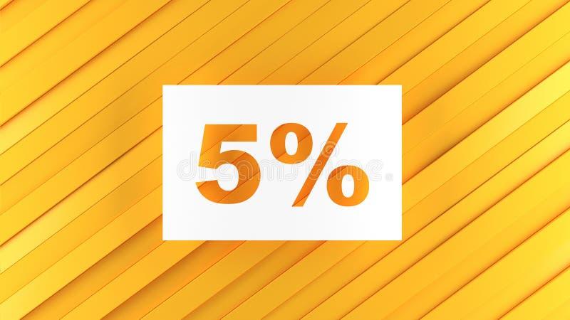 5 descuentos y ventas para las tiendas y las mercancías stock de ilustración