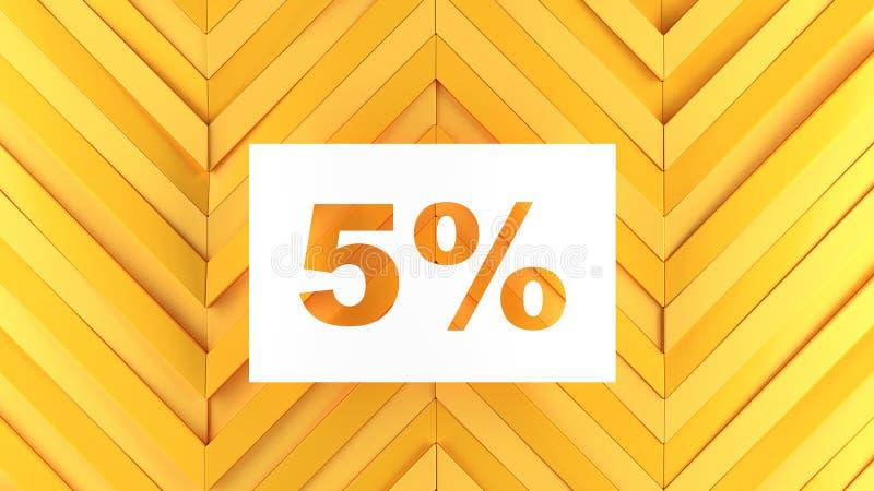 5 descuentos y ventas para las tiendas y las mercancías libre illustration
