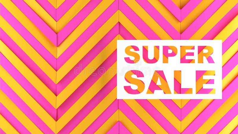 Descuentos y ventas para las tiendas y las mercancías stock de ilustración