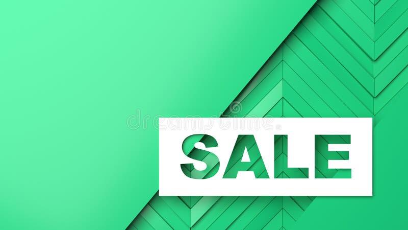 Descuentos y ventas para las tiendas y las mercancías ilustración del vector